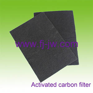 Activated carbon filter media,to absord odor and filter air carbon active fiber