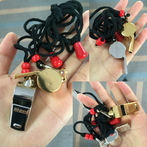 Customized color/logo military brass metal whistle engraving metal whistle for wholesale
