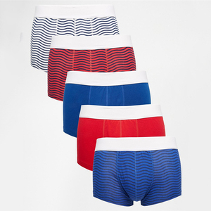 Squiggle Stripe Print Satin Boxer Shorts Cheap Bulk Wholesale Boxer Shorts
