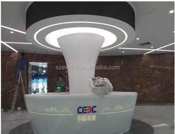 Reception Ufficio Bianco : Moderno hotel design bianco pietra artificiale ufficio reception