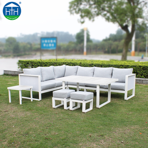 Guangdong Garden outdoor furniture balcony corner L shape sectional sofa set