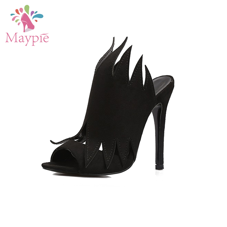Fashion Designer Black Stiletto Shoes Matching Bags Women Outdoor Comfortable High-Heeled Slippers