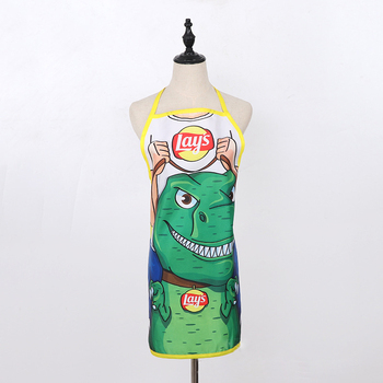 Promotion Cheap Funny Advertising Polyester String Adjustable Neck Strap Washable Bib Apron