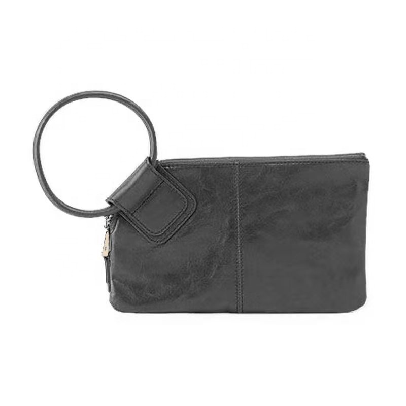 High Quality Fashionable Personalized Solid Women <strong>Leather</strong> Wristlet <strong>Clutch</strong>