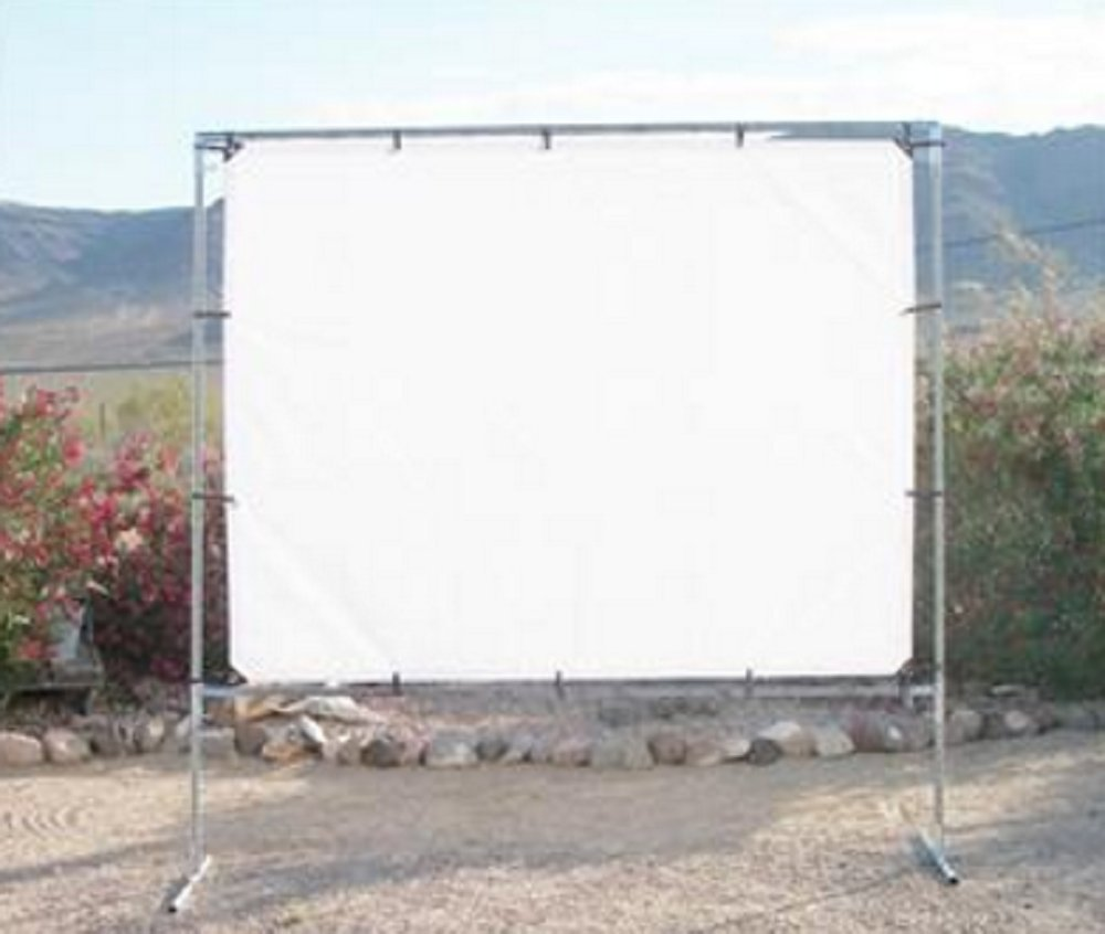 """8' x 10' OUTDOOR STANDING HOME THEATER PROJECTION MOVIE SCREEN KIT~3/4"""" Fittings"""