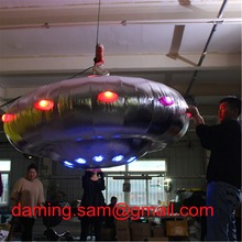 Customize Decoration colorful Inflatable flying saucer for Event Decoration