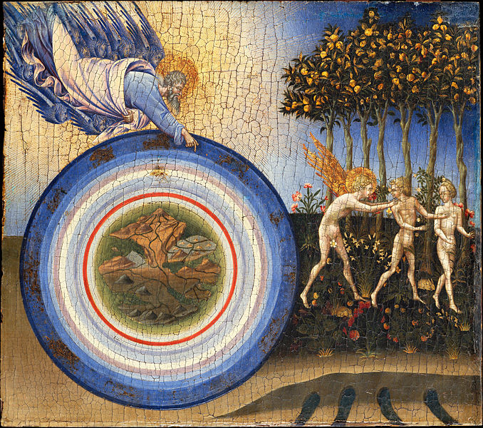 Canvas Art Prints Painting Giovanni Di Paolo giovanni Grazia <font><b>italian</b></font> - The Creation Of World And Expulsion From Paradise