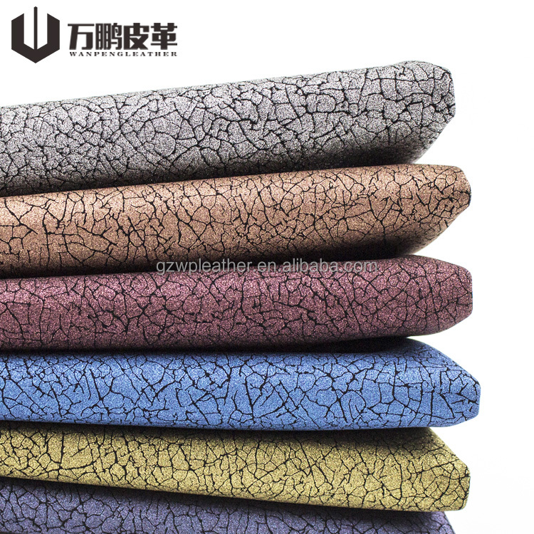 Good Quality Synthetic Leather Roll Decorative Material Soft Shoes Bag Pu Crackles Leather