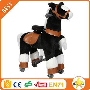 Funtoys CE standing running stick horse toy