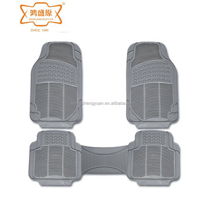 2018 hot sale non slip beige/white/silver grey/red pvc car mats
