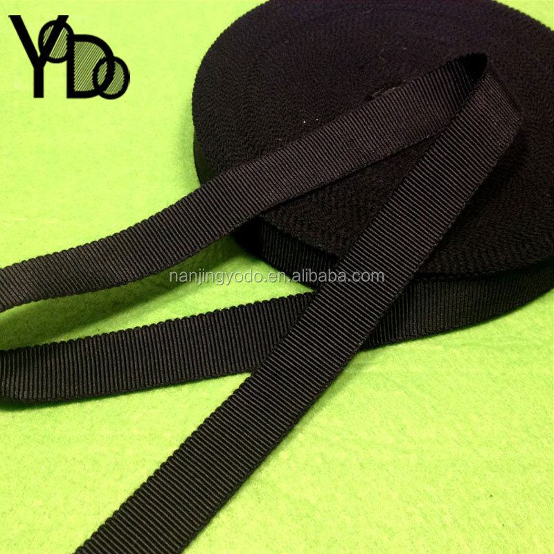 YQ-WG02 High grade black soft rayon petersham hat ribbon