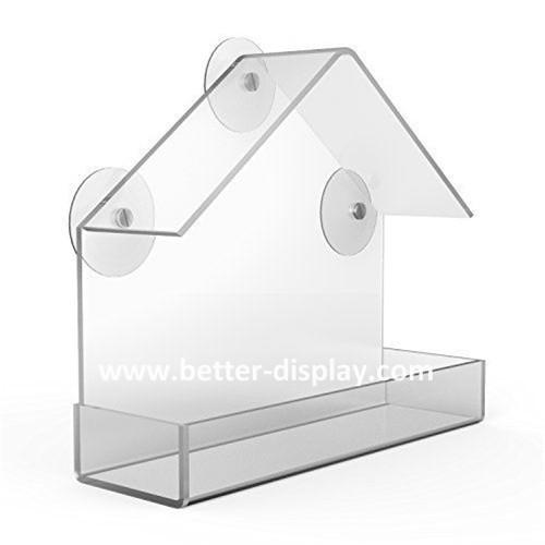 Birdscapes window bird feeder House shaped clear acrylic bird feeder