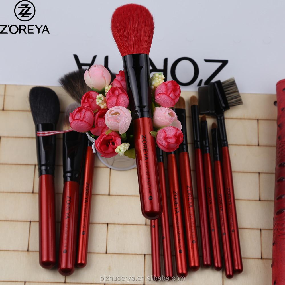 ZP12 ZOREYA 12pcs best professional cosmetic makeup brushes set