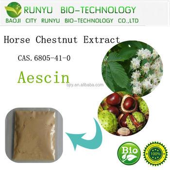 horse chestnut extract aescin in herbal extract,aescin,escin powder, 20%-98% CAS No.6805-41-0