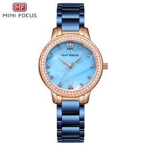 Stylish unique design cheap cost different colors analog japan movt ladies watch bracelet watch with PC21 movement battery
