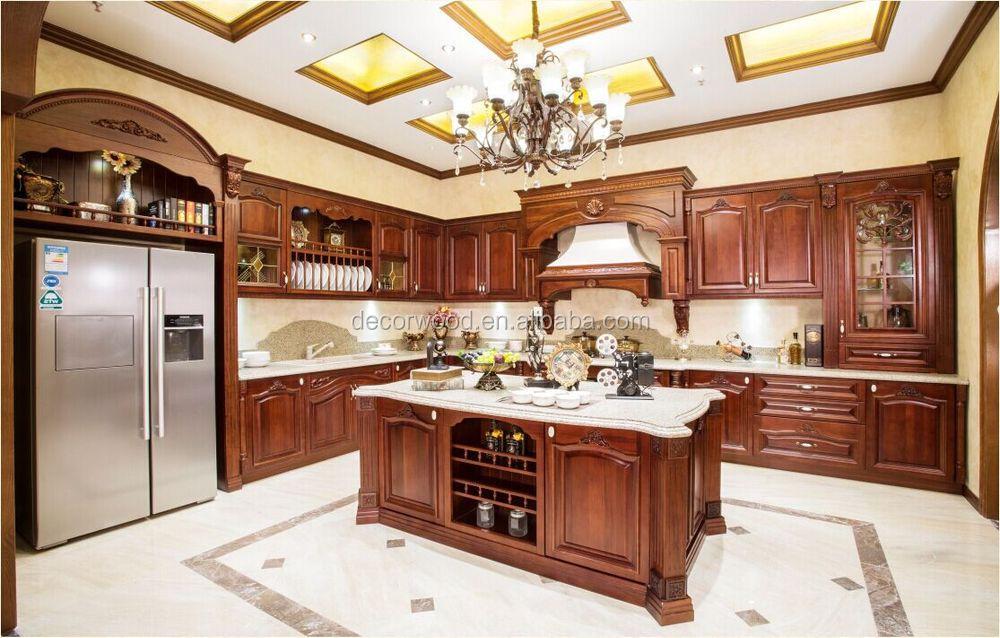 norme am ricaine de luxe en bois massif meubles de cuisine. Black Bedroom Furniture Sets. Home Design Ideas