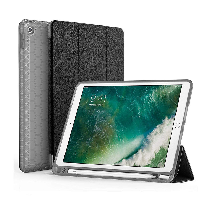 Shockproof Smart Case for <strong>iPad</strong> 9.7 2017 2018 with Pencil Holder