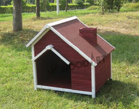 Unique design House type handmade dog kennel for dogs with chimney