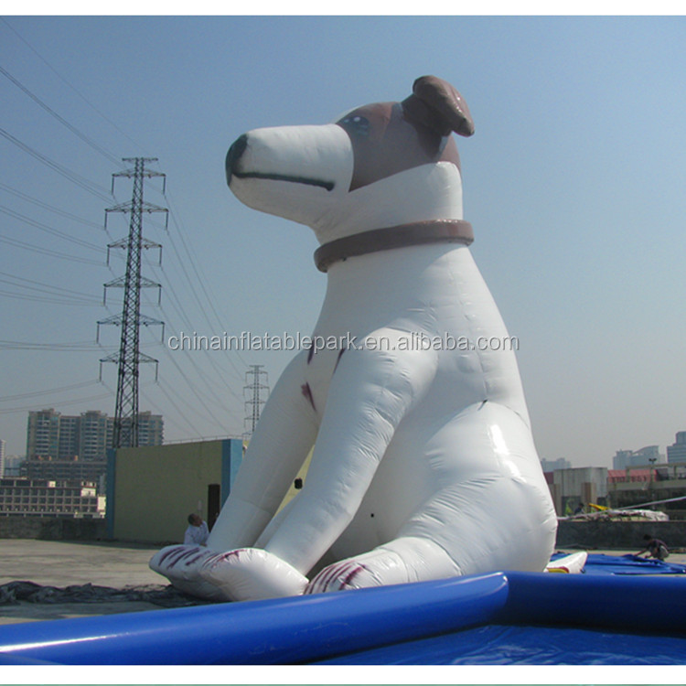 customed giant advertising inflatable dog cartoon character