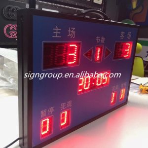 outdoor waterproof scoreboard portable led electronic basketball match scoreboard