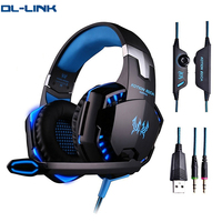 G2000 Best PC PS4 7.1 Gaming Headset with Mic LED Light for PC Game