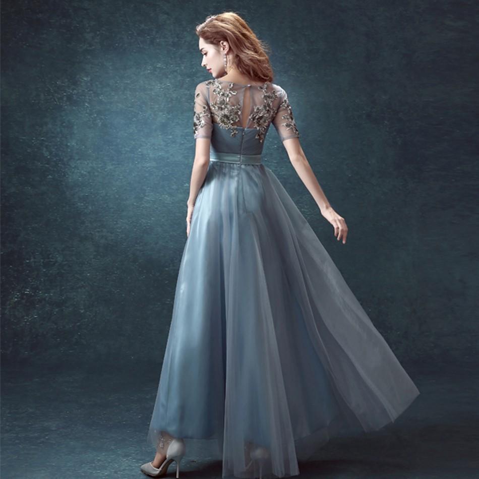 Latest Designs Of Wedding Gowns: 2016 New Arrival Luxury Elegant Chiffon Half Sleeves