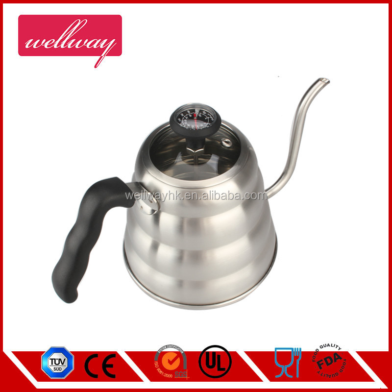 Pour Over Drip Coffee Kettle Teapot with Thermometer