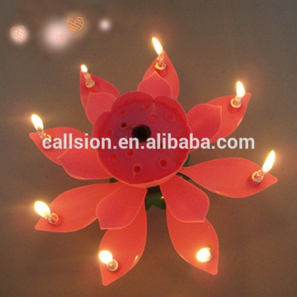 Shaped Novelty Flower Chinese Fireworks Plain Indoor Birthday Candle