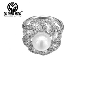 PSM Hot 2018 Christmas new value 925 sterling silver Spinning Rings relaxed Rotatable silver diamond ring for women