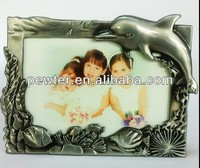 2014 Best Selling Cute pewter Dolphin Photo Frame for friend