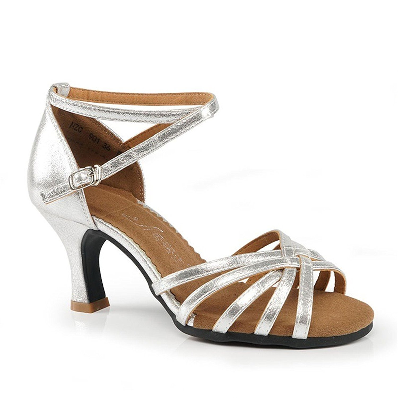 WXMDDN Latin Dance Shoes Womens Gold Dance Shoes Adult Seasons 3.5cm Indoor Dance Shoes Modern Social Dancers Shoes Dancing Shoes