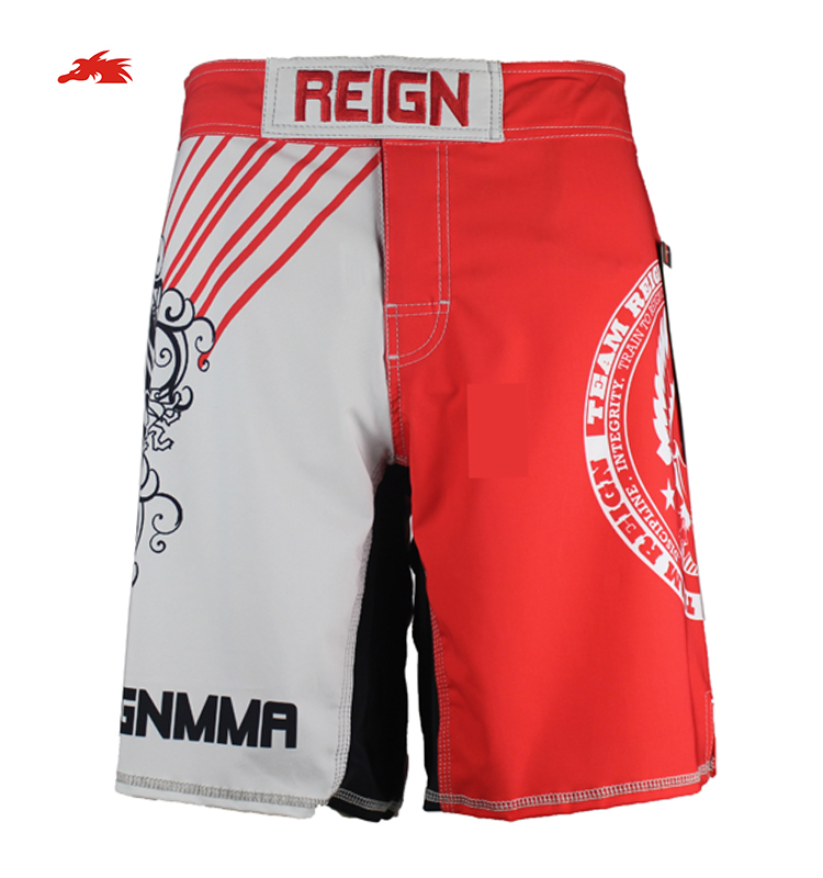 Sublimation mma gym sports shorts men bodybuilding shorts