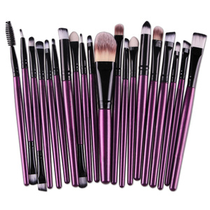 20 pieces Purple Makeup Cosmetic Beauty Tools Hair Brush Set