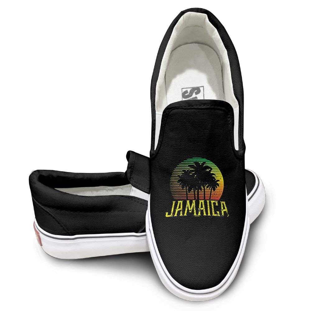 save off b5dfc f39be Get Quotations · Womens Canvas Shoes Jamaica - Rasta Flag Fabulous Canvas  Slip on Shoes for Men Custom Running