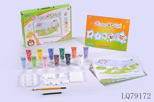 finger and sponge painting kit,finger painting for kid,drawing painting kits for children