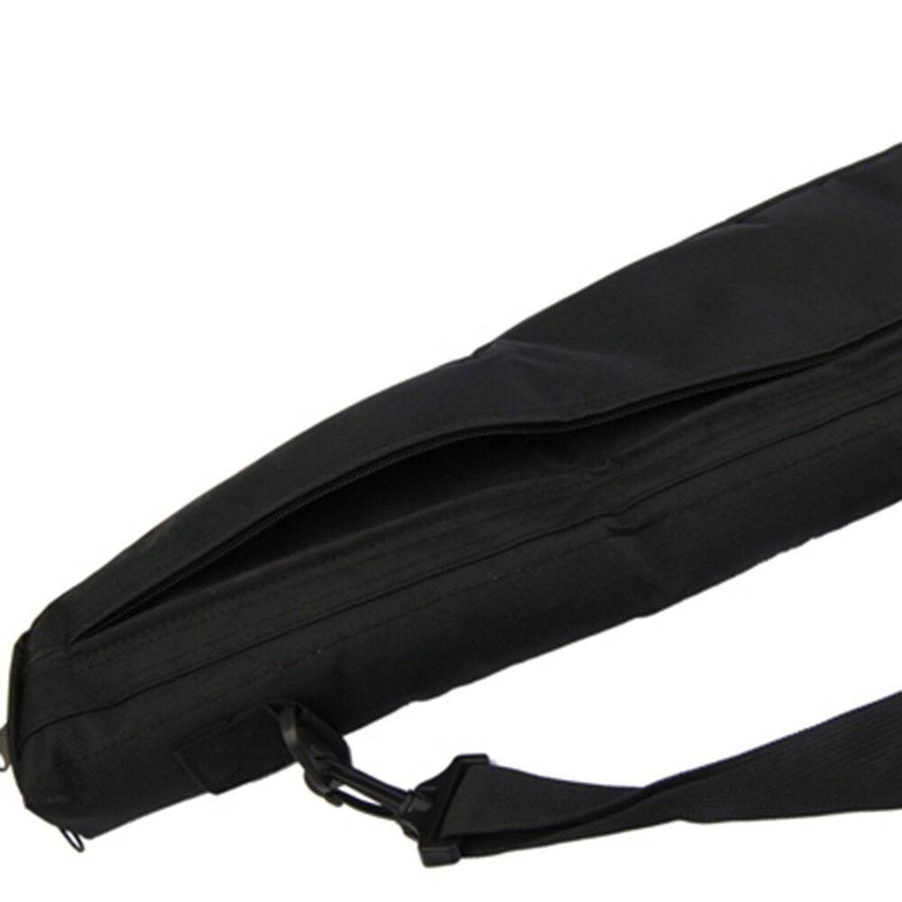 Tactical Shoulder Sling Gun Bag Padded AEG Rifle Shotgun Soft Case Bag Black