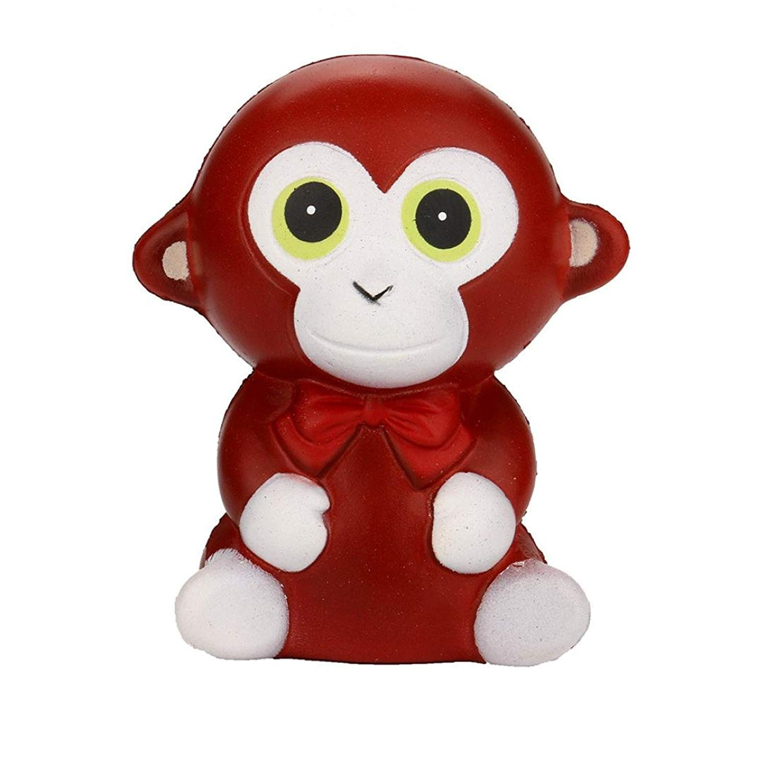 Malbaba Kawaii Jumbo Squeeze Monkey Cream Bread Scented Slow Rising Toys Phone Charm Gift for Kids and Adults