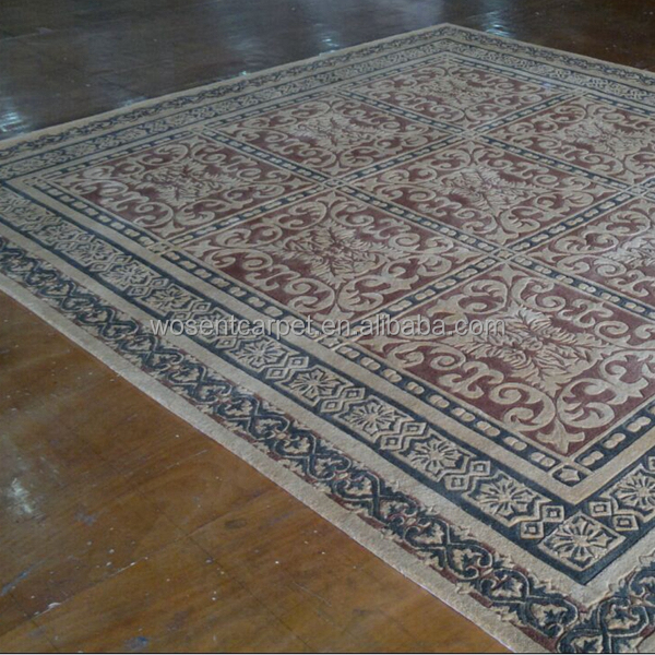 Customized Size Wool Hand Tufted Rug Carved Wool Handmade Carpets