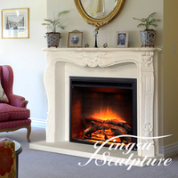 Hand Carved antique fireplace mantels and surrounds