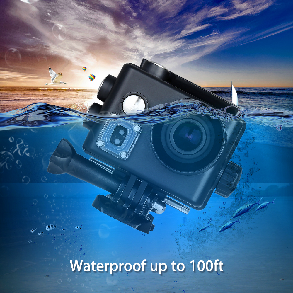 BOBLOV 4K Sports Helmet Action Camera Cam Video Camcorder WiFi 16MP Waterproof