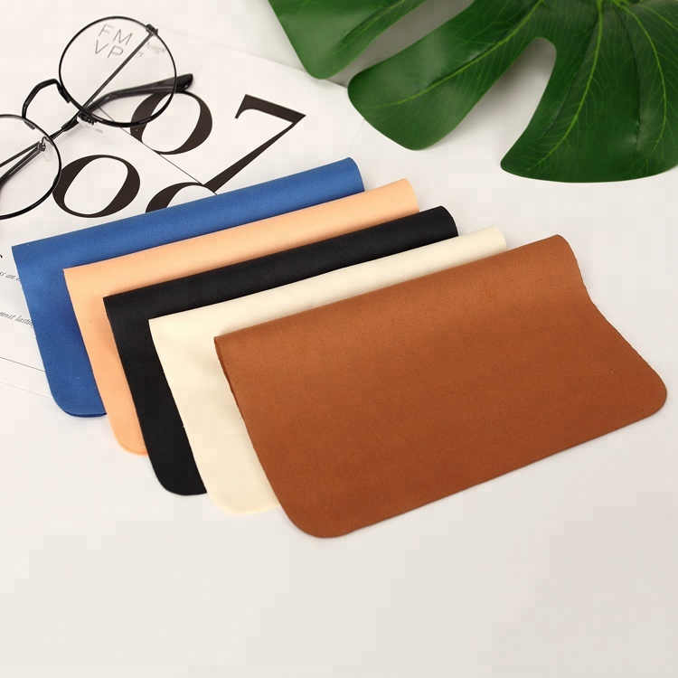 20%polyamide+80%polyester microfiber glasses cleaning cloth, Any color is available