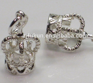 3D crown zinc alloy material royal queen king crowns charms