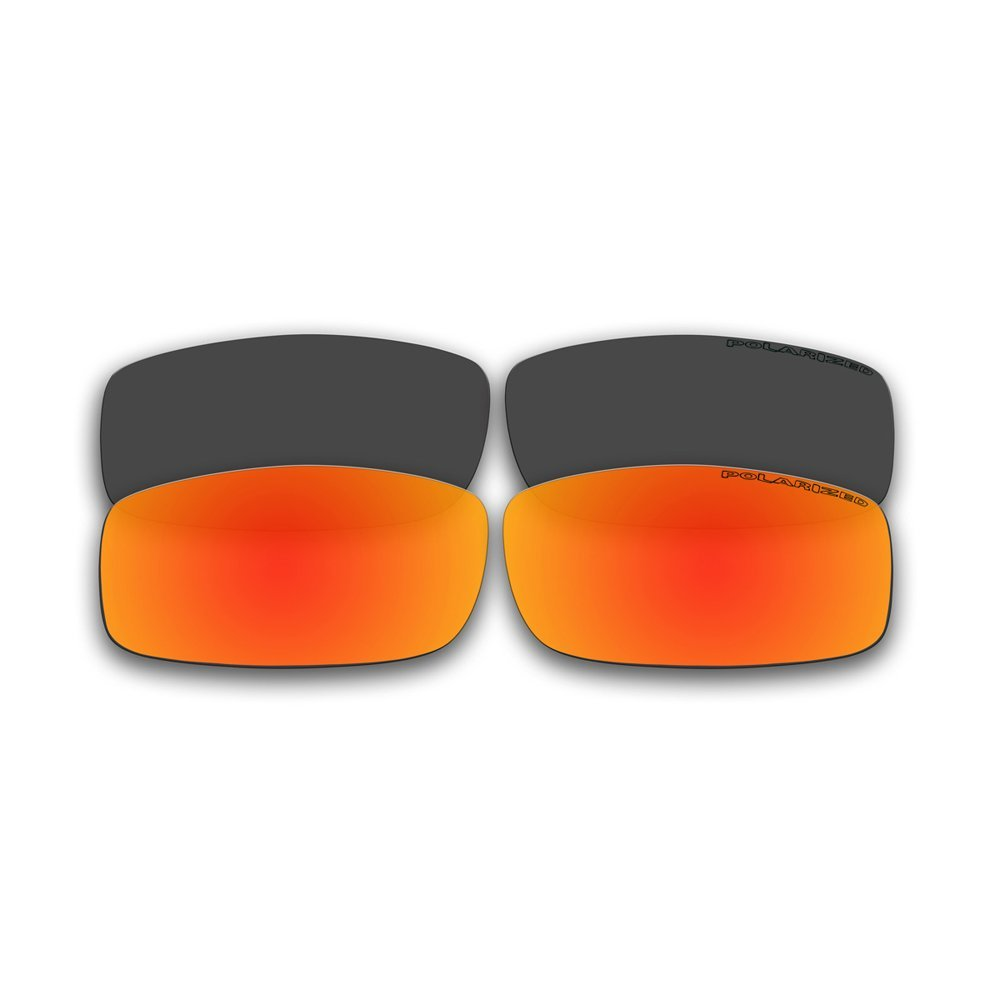 1b9a05e7afd 2 Pairs Polarized Replacement Fire Red Mirror and Black Lenses for Spy  Optics Cooper Sunglasses
