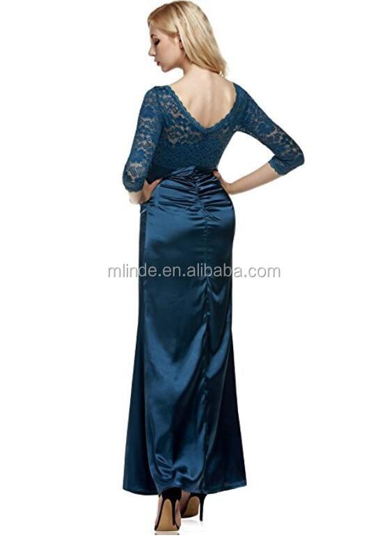 c5682cf980bdd أنيقة نمط مثير السيدات الملابس بالجملة مخصص مسلم الرسمي كم طويل الرباط حزب  الزفاف مساء اللباس