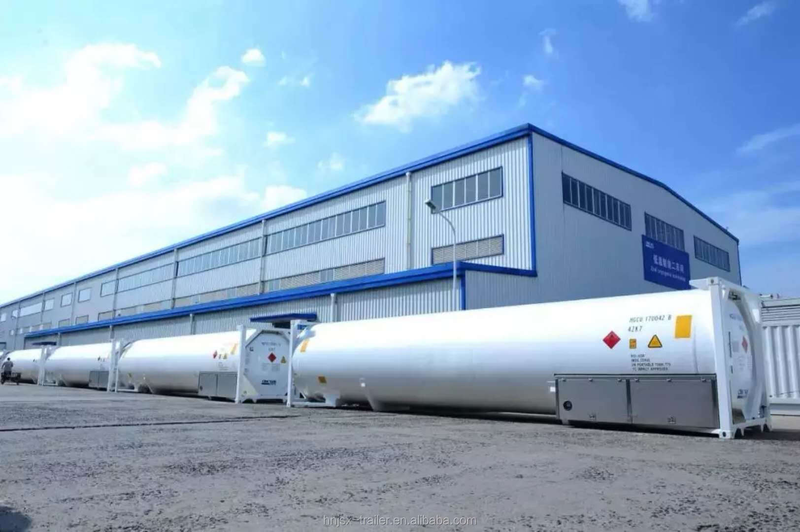 Jsxt 20FT Roestvrij Stalen Silo Cryogene Druk Opslag ISO LNG/Lar/Lair/Lin/Lox/N2O /methaan/Ethyleen Bulk Gas Tank Container