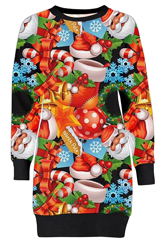 f66d5cf6e59f Cheap Ladies Christmas Jumper Dress
