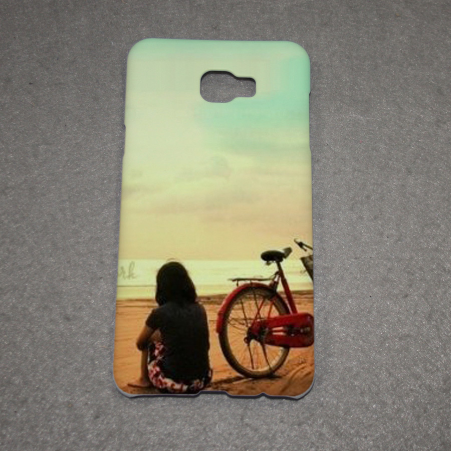 Custom photo printed mobile phone cases blank white polymer cover for Samsung C7 PRO