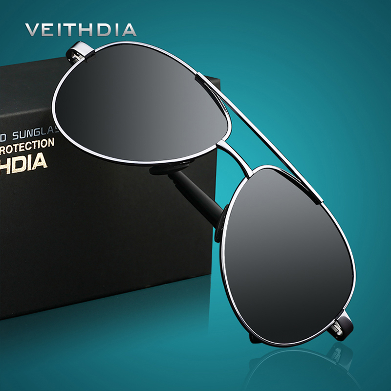 VEITHDIA Brand Design Sunglasses Men Polarized UV400 Eyes Protect Sports Coating Sun Glasses Google Pilot 1306