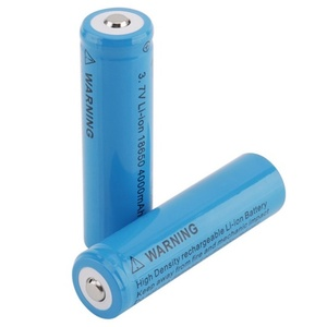 High quality rechargeable 3.7V 4000mAh li-ion 18650 battery