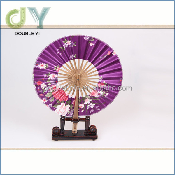 Custom Printed Bamboo Decorative Folding customized fabric hand fan / chinese hand fans